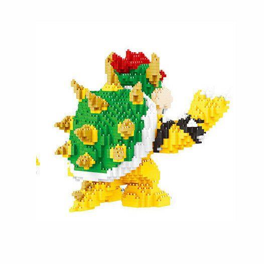 2300pcs Bowser Koopa Super Mario Bro DIY Diamond Mini Building Blocks Bricks Toy