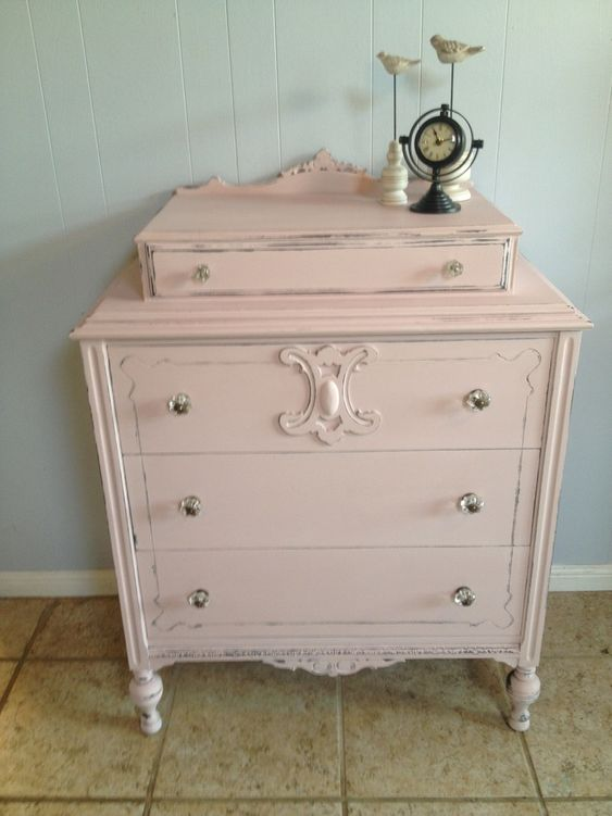 Annie Sloan Baby Furniture | Antoinette over Graphite dresser Annie Sloan Chalk Paint® by Heirloom ...