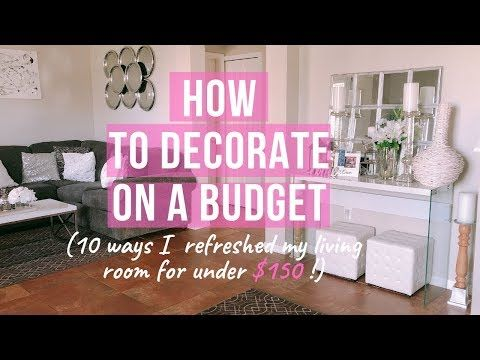 How To Decorate Your Living Room On A Budget How To Design On A Budget With These 10 Tips Youtub Living Room On A Budget Diy Kitchen Decor Home Decor Tips