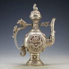 Chinesische Weinlesehandarbeit Tibet Silber Kupfer Drache Tea Pot  Von United States