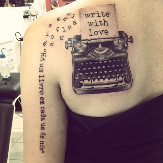 Tattoo Designs Writing: Typewriter Tattoo - Google Search