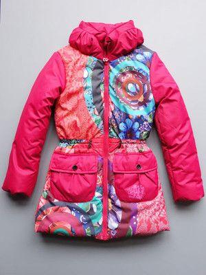 Desigual Girls Agua Fuchsia Rose Coat | Coats Kid and The o'jays