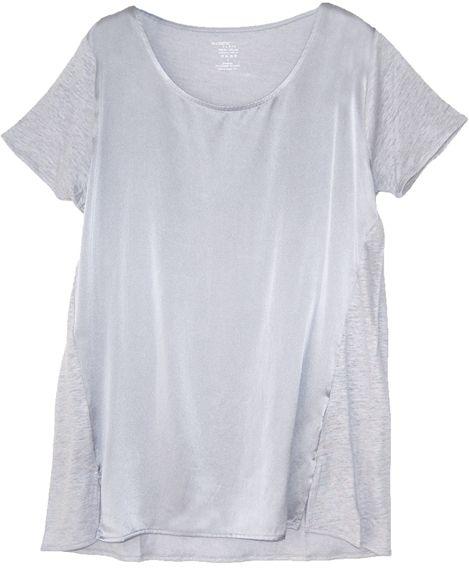 Majestic Filatures Shirt aus Seide und Leinen SOIE ET LIN brume