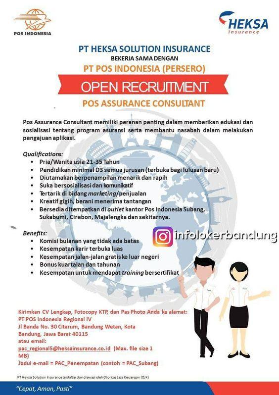 Lowongan Kerja PT. Heksa Solution Insurance Bandung Desember 2017 ...