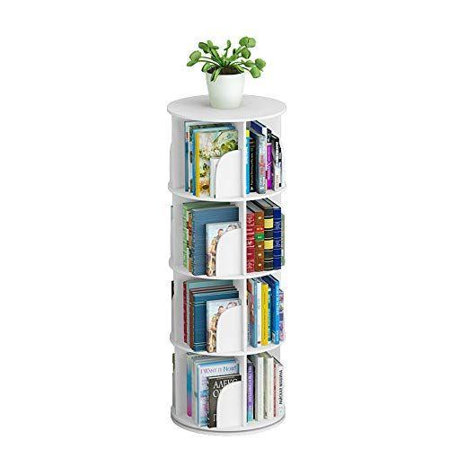 Mr Zhang Modern Minimalist Circular Creative Rotating Bookshelf White 4 Sizes Can Choose Size Minimalist Shelves Minimalist Bookcase Creative Bookshelves