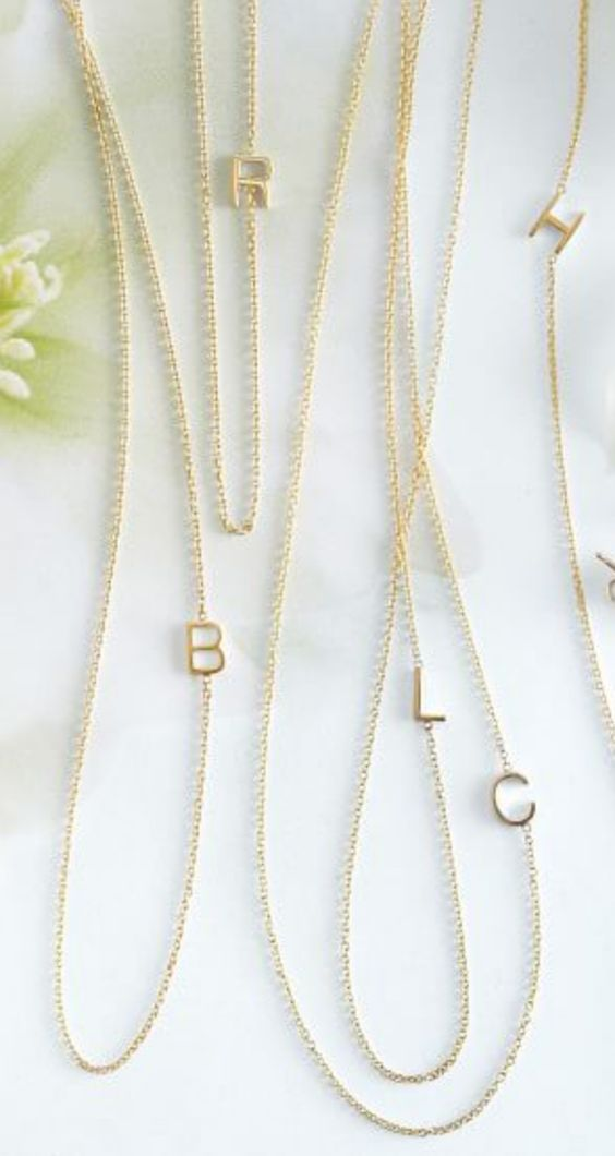 Love these initial necklaces