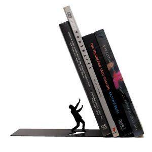 "I love these - ARTORI Design ""Falling Books"" Metal Bookend Decorative 1 Pcs Black"