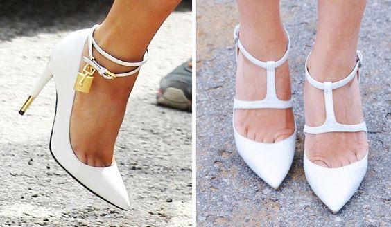 scarpin branco sapato inverno 2014 verao 2014