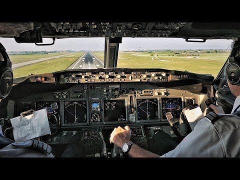 Smooth Landing Cockpit Boeing 737 800 Landing In Copenhagen