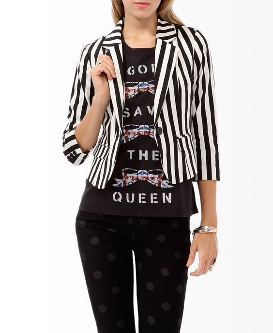 Women's striped blazer. perfect for a circus ring leader