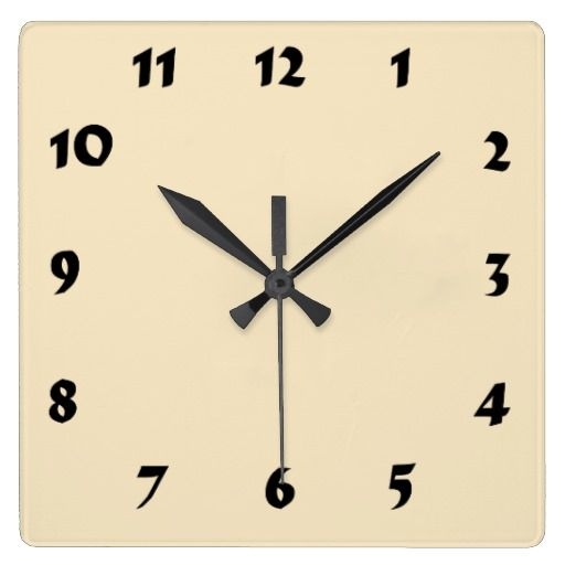 Changeable Numbered Cream Ecru Clock  solid color