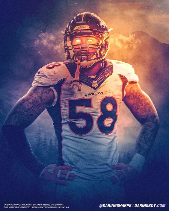 Von Miller Denver Broncos Nfl Broncos Denver Broncos Football Denver Broncos Art