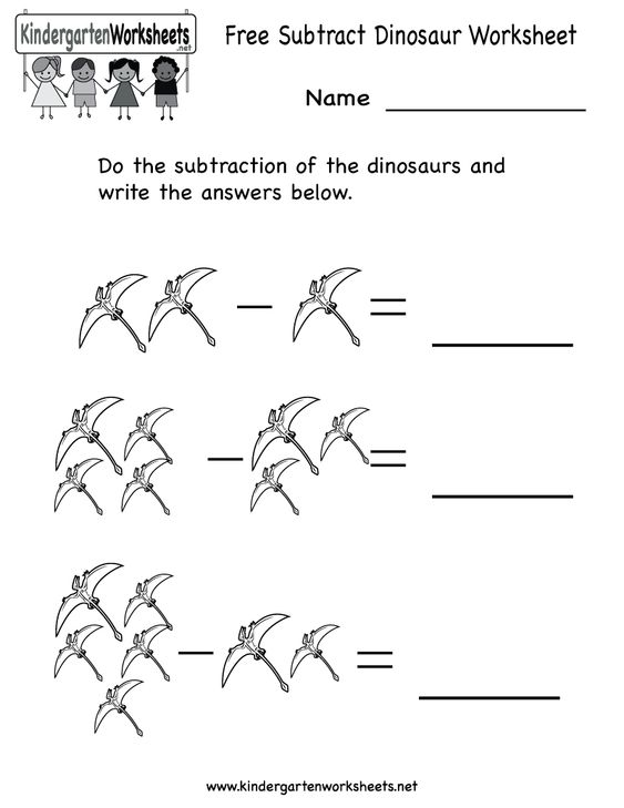 Dinosaur worksheets kindergarten