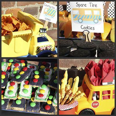 Food, photo booth, box cars, red light/green light game, peach tea 'motor oil' and lemonade 'antifreeze'