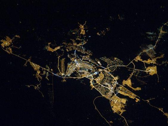 Brasilia. Fotografado da estação espacial.