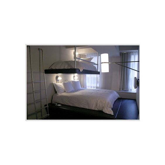 Hotel QT Bunk Bed Room Photos HotelChatter ❤ liked on Polyvore featuring home, children's room, bedroom and house