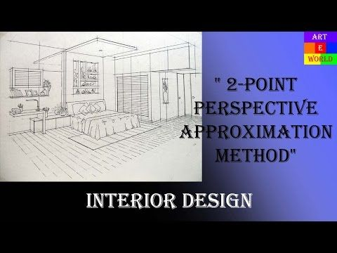 2 Point Interior Perspective Drawing Tutorial