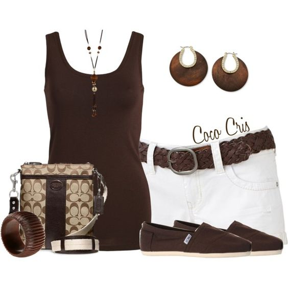 """""""Belted Shorts"""" by coco-cris-1 on Polyvore"""