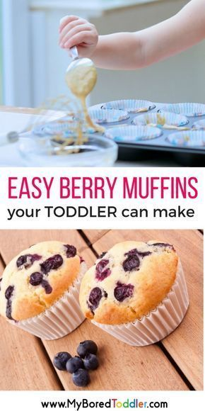 Easy Berry Muffin recipe for Toddlers to Make - My Bored Toddler