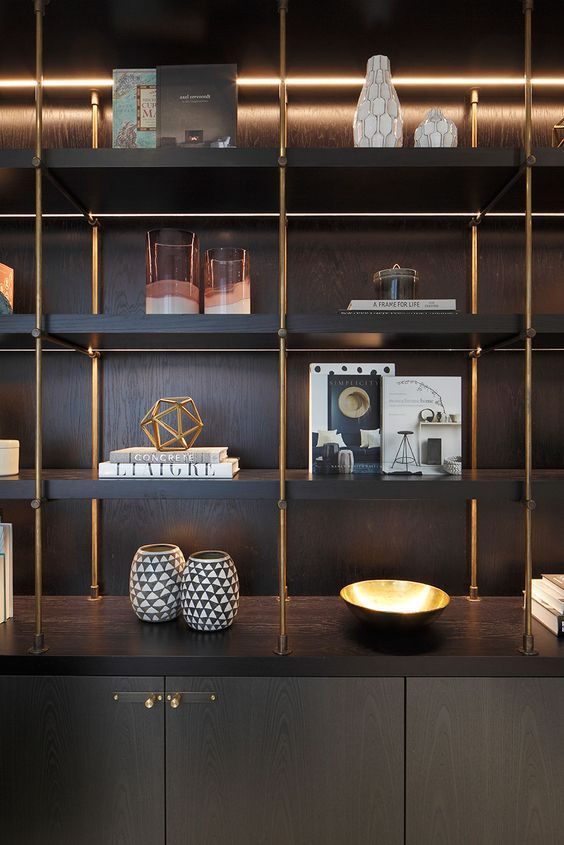 Soho Apartment Interior Shelves