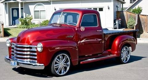 Candy apple red vintage trucks 1953 chevy 5 window pick for 1953 5 window chevy truck for sale