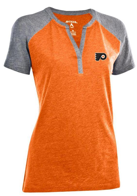 Antigua Pittsburgh Steelers Women's Blast Lace-Up T-Shirt - Gray