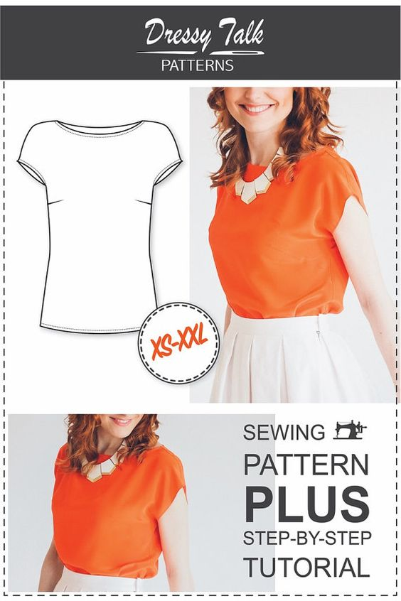 Beginner Blouse Pattern PDF Sewing Pattern by DressyTalkPatterns