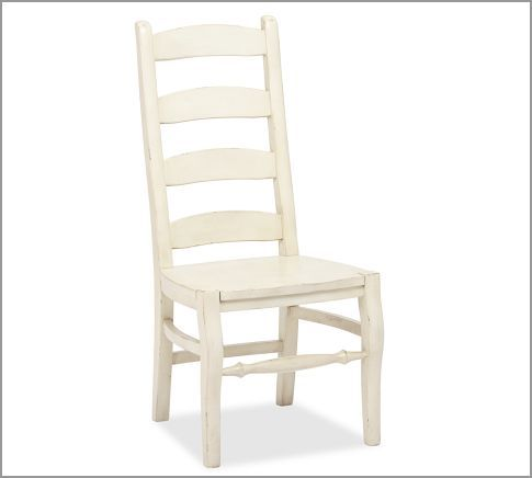 Pb Wynn Ladderback Chair In French White To Go With Ethan Allen Table Kitchen Pinterest Chairs And Pottery Barn