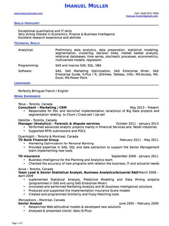 Online Advertising Executive #MTV Resume Example (resumecompanion - business intelligence analyst resume