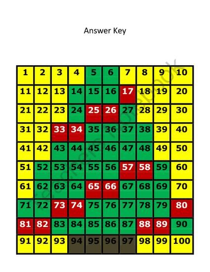 Christmas Tree Hundreds Chart Hidden Picture Set from ...