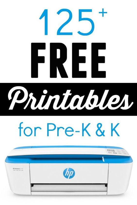 125 Free Printables for Pre-K and K   Bingo, Home and Free printables