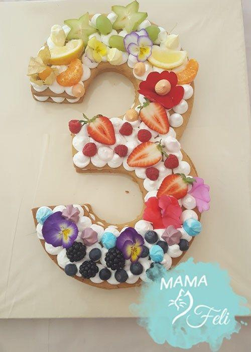 Numbercake Geburtstagstorte Kinder Kuchen Geburtstag