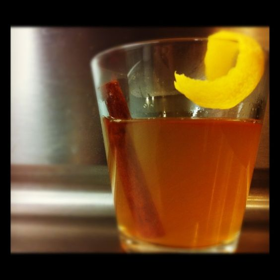 Hot toddy with bourbon and honey- two of my favorite things!