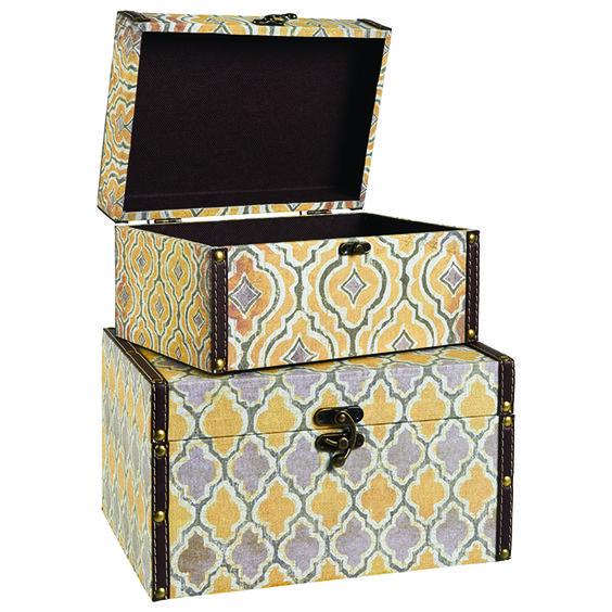 Decorative Stationery Boxes Glamorous Set Of 2 Vintage Storage Boxes #ikat #notions #decor  Ikat Design Inspiration