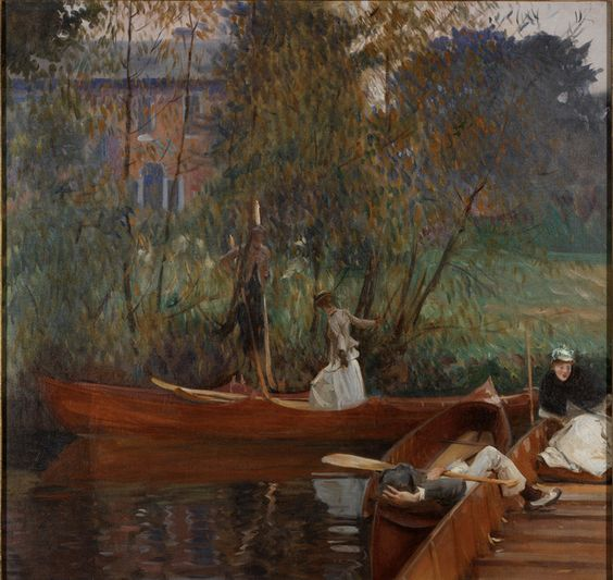 John Singer Sargent | American, 1856-1925 A Boating Party, ca. 1889 | Oil on canvas RISD Museum