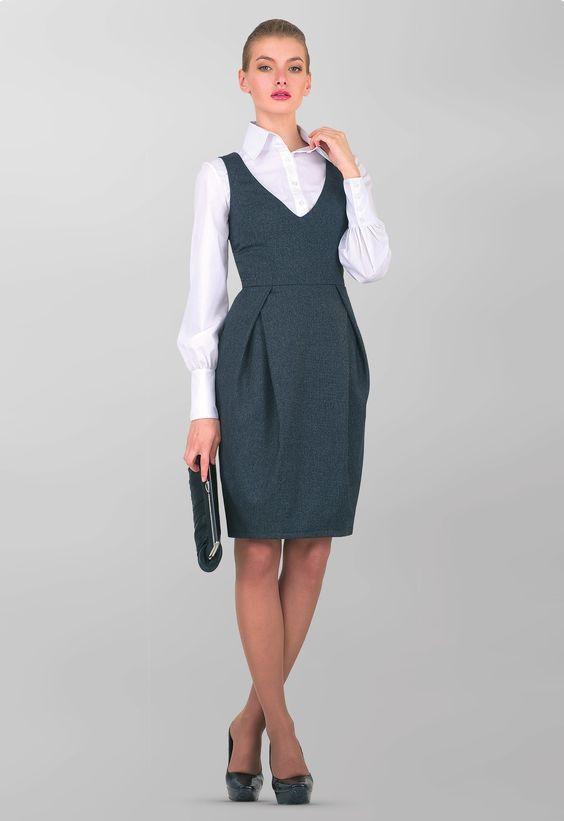Девушка модель сарафана для работы работа для девушки 17 лет в спб