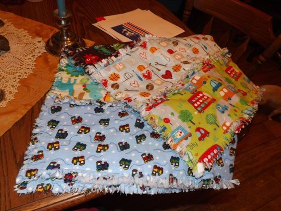 My first try at making a baby blanket. It turned out adorable and keeps my new great nephew Eli warm! #cre8simple