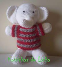 Resultado de imagem para croche elefantes
