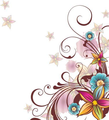Vectores Florales De Colores Png Buscar Con Google