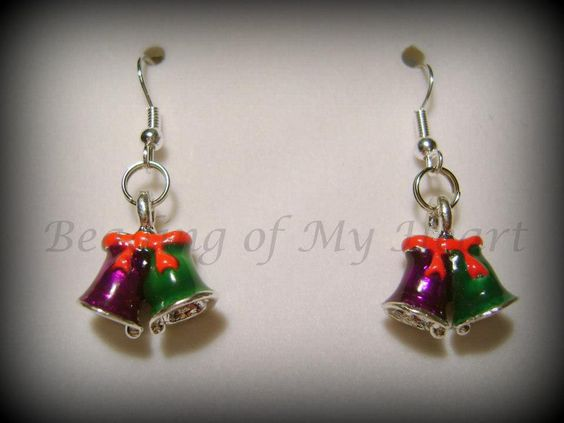 Christmas Earrings  #handmade  #thecraftstar  $5.00