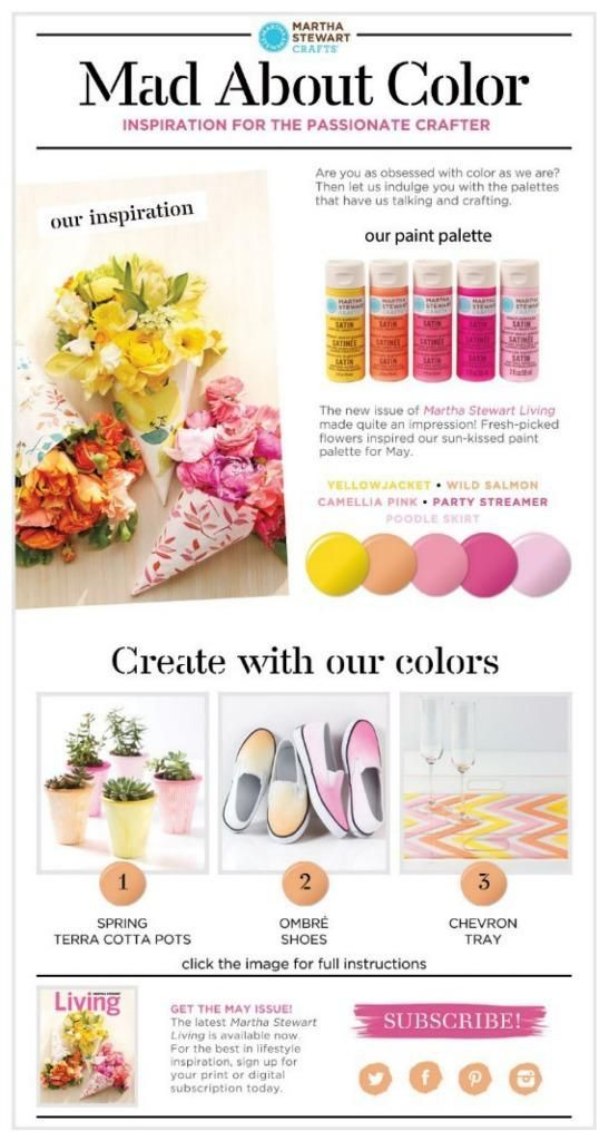 Martha Stewart's Mad About Color for May