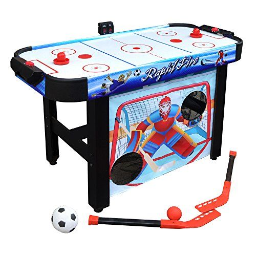 Put Dullness In The Charge Box With The Quick Fire 3 In 1 Air Hockey Multi Game Table This Flexible Table Functions Th Multi Game Table Table Games Air Hockey