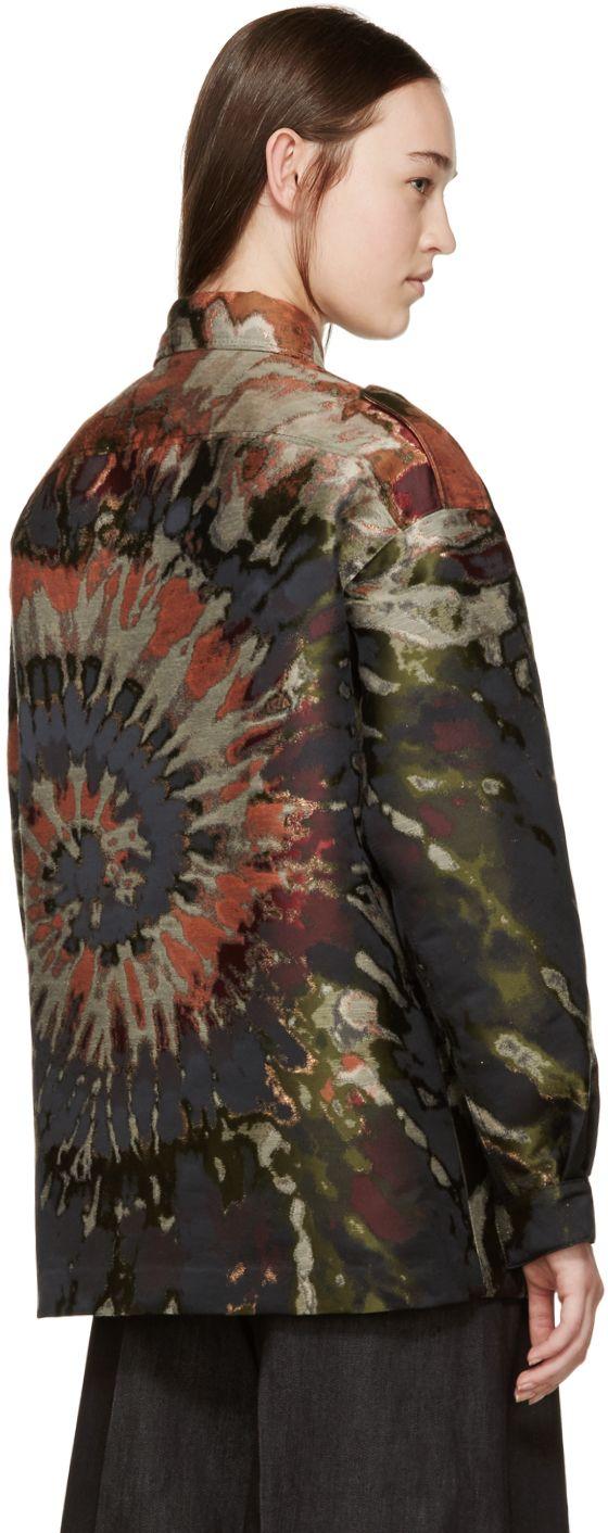Valentino: Multicolor Tie Dye Brocade Jacket | SSENSE