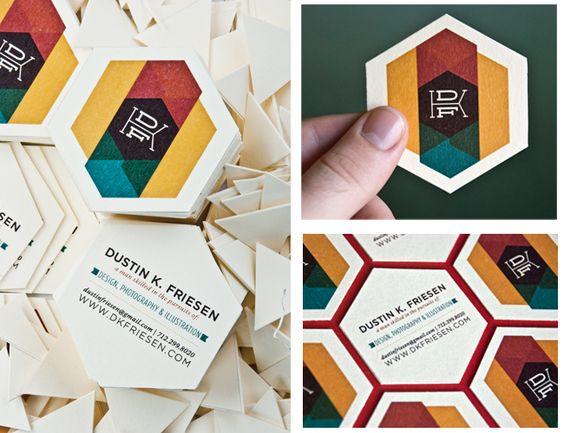 Business Card Design by DUSTIN K FRIESEN — Biz Card with a Creative Shape