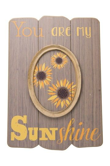 Image of Boston Warehouse Sunshine Oval Frame Slatwall Plaque