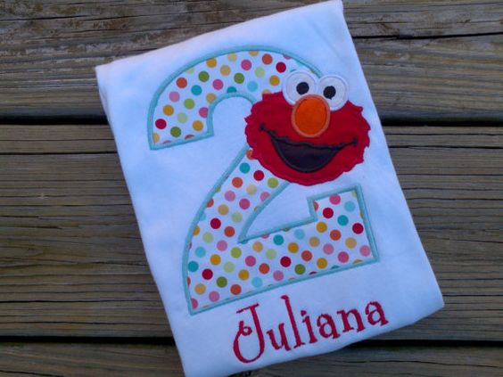 Elmo CUSTOM Applique SHIRT Personalized boutique by sandrabees