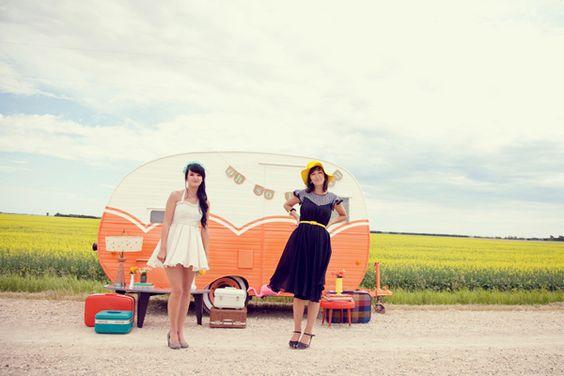 A dream to have a retro caravan!