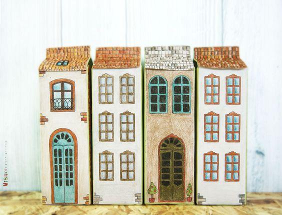 diy free printables create illustrated milk houses יש גם פרינטאבלס. קפה ויפה יחד עם סטודיו מישקה:
