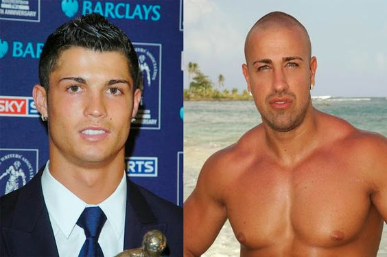Cristiano Ronaldo y Rafa Mora cejas depiladas.