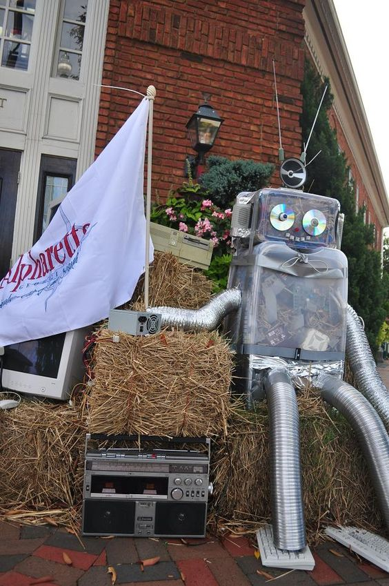 Every October in Alpharetta a great variety of scarecrows inhabit the downtown area.